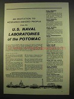 1963 U.S. Naval Laboratories of the Potomac Ad!