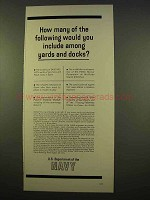 1963 U.S. Department of the Navy Ad - Yards and Docks