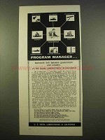 1963 U.S. Naval Laboratories in California Ad - Program