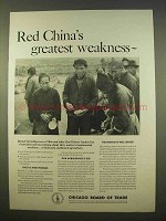 1963 Chicago Board of Trust Ad - Red China's Weakness
