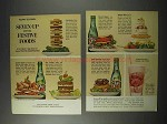 1963 7-Up Seven-Up Soda Ad - With Festive Foods!