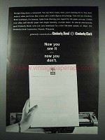 1963 Kimberly-Clark Watermarked Paper Ad - See It