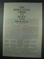 1963 Planned Parenthood Ad - The Population Crisis