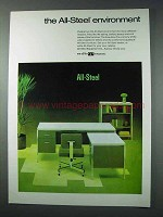 1963 All-Steel Office Furniture Ad - The Environment