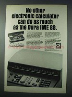 1963 Dura IME 86 Calculator, Satellite Ad
