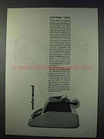 1963 Underwood Divisumma 24 Calculator Ad - Cutting
