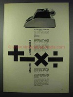 1963 Underwood Divisumma 24 Calculator Ad - Versatile