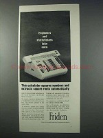 1963 Friden SRQ Calculator Ad - Squares Numbers