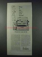 1963 Friden Flexowriter Ad - Tape's Code Format