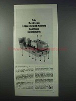 1963 Friden Postage Machine Ad - Has Nine Features