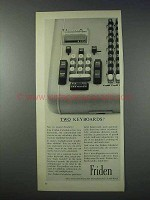 1963 Friden Calculator Ad - Two Keyboards?