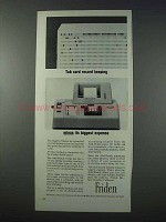 1963 Friden Add-Punch Calculator Ad - Tab Card Record