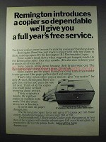 1963 Remington R-2 Electrostatic Copier Ad - Dependable