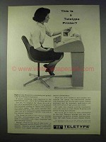 1963 Teletype Model 33 Printer Ad - This is a Printer?