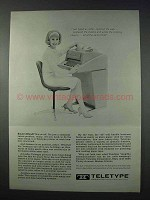 1963 Teletype Model 35 Printer Ad - Typed, Reported