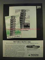 1963 3M Thermo-Fax Copying Machine Ad - Don't Take Trip