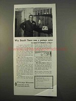 1963 Pitney-Bowes Postage Meter Ad - Donald Yance Uses