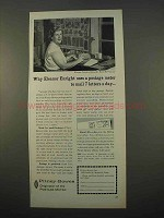 1963 Pitney-Bowes Postage Meter Ad - Eleanor Enright