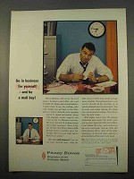 1963 Pitney-Bowes Postage Meter Ad - Go in Business