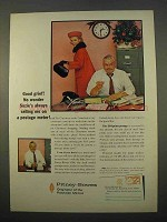 1963 Pitney-Bowes Postage Meter Ad - Good Grief!