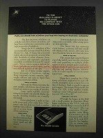 1963 Sharp CS-32A Calculator Ad - Plunge Into Space Age
