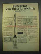 1963 1847 Rogers Bros. Silverplate Ad - Magic Rose