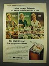 1963 RCA Whirlpool Model SKP-55 Portable Dishwasher Ad