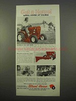 1963 Wheel Horse Lawn Tractor Ad - Get a Horse!