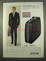 1963 American Tourister Luggage Ad - Oleg Cassini
