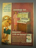 1963 Hotpoint Hallmark Electric Range Ad - Easy Clean
