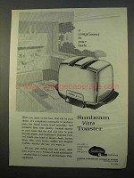 1963 Sunbeam Vista Toaster Ad - Compliment Your Taste