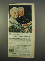 1963 Clairol Come Alive Gray Advertisement - I love It That Way