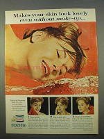 1963 Noxzema Skin Cream Ad - Makes Skin Look Lovely