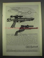 1963 Bushnell 1.3x Phantom Scope Ad - Handguns