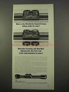 1963 Weatherby Imperial Scope Ad - Hiding Under Caps