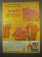 1963 PET Evaporated Milk Ad - Whip With Kool-Aid