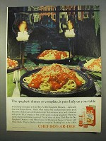 1963 Chef Boy-Ar-Dee Spaghetti Dinner Ad - So Complete
