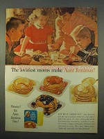 1963 Aunt Jemima Buttermilk Pancake and Waffle Mix Ad