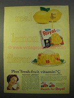 1963 Royal Lemon Gelatin Ad - Real Lemon Flavor