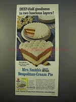 1963 Mrs. Smith's Deep-Dish Neapolitan-Cream Pie Ad