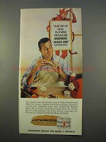 1963 Underwood Deviled Ham Ad - That Devil in a Man
