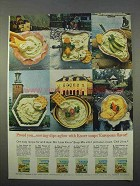 1963 Knorr Soup Mix Ad - Serving Dips Aglow