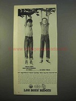 1963 Lee Boys Riders Jeans Ad - Washed 25 Times