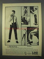1963 Lee Riders Jeans Ad - What Did You Do In School?