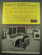 1963 Control Data 3200 Computer System Ad - Management