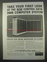 1963 Control Data 3600 Computer System Ad - First Look