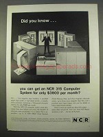 1963 NCR 315 Computer System Ad - Did You Know?