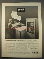 1963 NCR 390 Computer Ad - Soule Steel Company