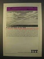 1963 ITT Communications Ad - Path Across Blue Pacific