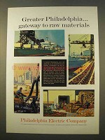 1963 Philadelphia Electric Company Ad - Raw Materials